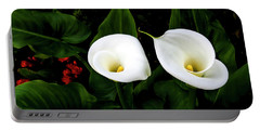 White Calla Lily Portable Battery Charger
