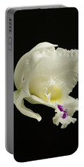 White Cattleya Orchid  Portable Battery Charger