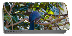 Portable Battery Charger featuring the photograph White-cheeked Turaco by Donna Brown