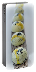 White Chocolate With Black Sesame Portable Battery Charger by Sabine Edrissi