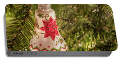 White Christmas Ornament Portable Battery Charger by John Roberts