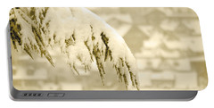 Portable Battery Charger featuring the photograph White Christmas - Winter In Switzerland by Susanne Van Hulst