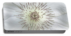 White Clematis Flower Garden 50121b Portable Battery Charger
