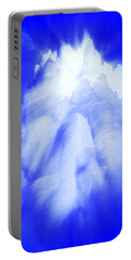 White Cloud In Blue Portable Battery Charger