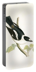 White Collared Flycatcher Portable Battery Charger by English School