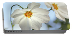 White Cosmos-1 Portable Battery Charger by Nina Bradica