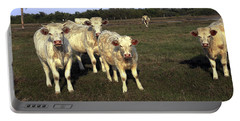 White Cows Portable Battery Charger by Sally Weigand