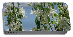 White Crabapple Portable Battery Charger