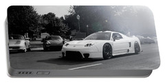 Portable Battery Charger featuring the photograph White Custom Nsx  by Joel Witmeyer