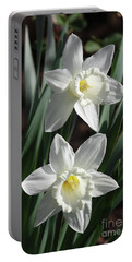 White Daffodils #2 Portable Battery Charger