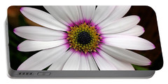 White Daisy Portable Battery Charger