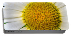 White Daisy Close Up Portable Battery Charger