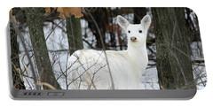 White Deer Vistor Portable Battery Charger by Brook Burling