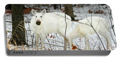 White Deer With Squash 3 Portable Battery Charger