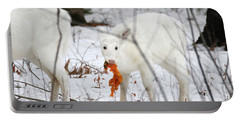White Deer With Squash 5 Portable Battery Charger by Brook Burling