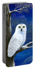 Portable Battery Charger featuring the painting White Delivery by Rebecca Parker