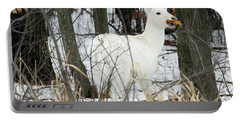 White Doe With Squash Portable Battery Charger by Brook Burling