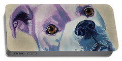 White Dog Portrait Portable Battery Charger