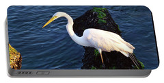 White Egret At Sunrise - Barnegat Bay Nj  Portable Battery Charger