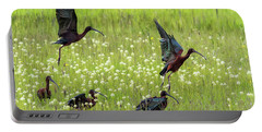White-faced Ibis Rising, No. 1 Portable Battery Charger