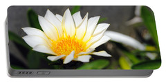 White Flower 3 Portable Battery Charger