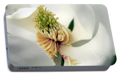 Portable Battery Charger featuring the photograph Magnolia Blossom by Meta Gatschenberger