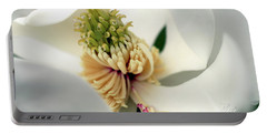 Magnolia Blossom Portable Battery Charger by Meta Gatschenberger