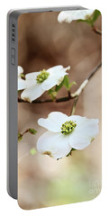 Portable Battery Charger featuring the photograph White Flowering Dogwood Tree Blossom by Stephanie Frey