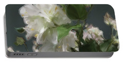 White Flowers 103 Portable Battery Charger