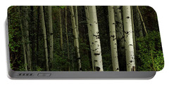 Portable Battery Charger featuring the photograph White Forest by James BO Insogna