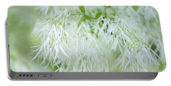 White Fringetree Portable Battery Charger