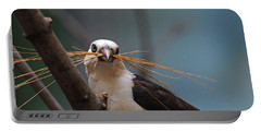 White-headed Buffalo Weaver Portable Battery Charger by Michiale Schneider