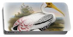 White-headed Ibis, Tantalus Leucocephalus Portable Battery Charger