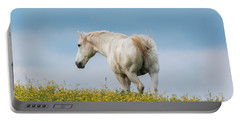 White Horse Of Cataloochee Ranch - May 30 2017 Portable Battery Charger