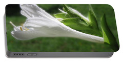 Portable Battery Charger featuring the photograph White Hosta Flower 46 by Maciek Froncisz