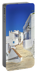 White Houses And Blue Sky Of Andalusia Portable Battery Charger
