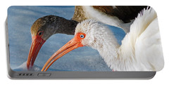 White Ibises Portable Battery Charger