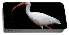 White Ibis Dripping Portable Battery Charger