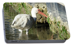 Portable Battery Charger featuring the photograph White Ibis Headed Home by George Randy Bass