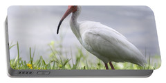 White Ibis  Portable Battery Charger by Saija  Lehtonen