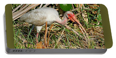 White Ibis With Crayfish Portable Battery Charger