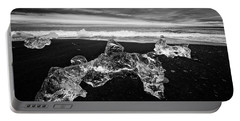 White Ice Black Beach - Fascinating Iceland Portable Battery Charger