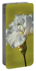 Portable Battery Charger featuring the photograph White Iris June 2016 Artistic.  by Leif Sohlman