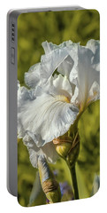 Portable Battery Charger featuring the photograph White Iris June 2016.  by Leif Sohlman