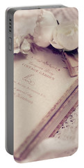 White Lace And Promises Portable Battery Charger by Rachel Mirror