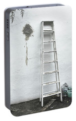 Portable Battery Charger featuring the photograph White Ladder by Tom Singleton