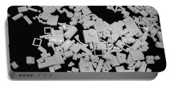 White Lego Abstract Portable Battery Charger