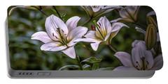 White Lilies #g5 Portable Battery Charger