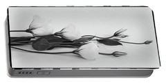 White Lisianthus  Portable Battery Charger