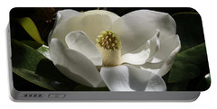 White Magnolia Flower Portable Battery Charger